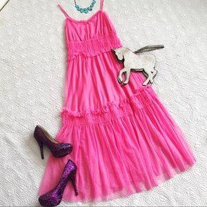Neon Pink Tulle Sun Dress